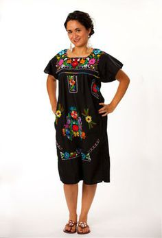 Poblano Dress – Black