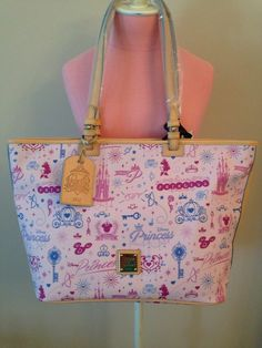 I love this bag!!!! Disney Dooney And Bourke 2014 Princess 1/2 Marathon Tote #Handbag #Dooneybourke #Fashion