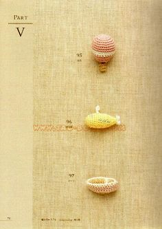 FREE Miniature Vehicles Crochet Pattern and Tutorial : Hot Air Balloon, Submarine and Boat