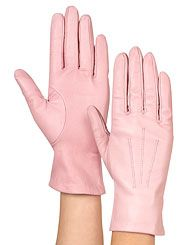 Leather gloves. In 40+ colours, many designs, various linings and several sizes. Around £40, unlined