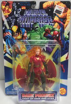 TAS040173 - 1996 Toy Biz Marvel Universe - Dark Phoenix Light Up Hair and Eyes