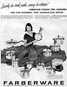 Farberware cookware ad, Our Farberware coffee maker did hundreds and hundreds of brews over the years. Aunt Betty, Vintage Ads, Cookware, Over The Years, The Past, Restaurant, Diy Kitchen Appliances