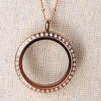 Large Rose Gold Crystal Locket  http://Stephslockets.OrigamiOwl.com
