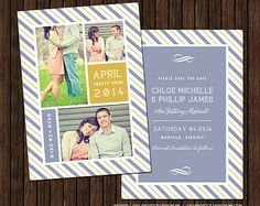 Instant Download  Save The Date Card Template Photoshop Template