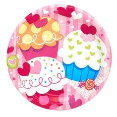 Valentine's Day Cupcake Hearts Dessert Plates Party Accessory by Unique, http://www.amazon.com/dp/B006RRC652/ref=cm_sw_r_pi_dp_hI-jrb13D65R2