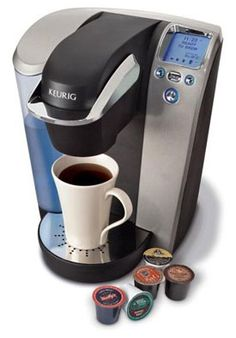 "Reception coffee maker - ""Like"" or ""Check-In"" to the clinic online and have a cup of coffee while you wait! Giving out a K-cup for each patient who checks in encourages patients to essentially advertise you for the small price of a K-cup."