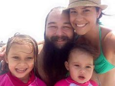 Windham Rotunda (WWE Superstar Bray Wyatt) and his wife Samantha, with their daughters Cayden & Kendall.