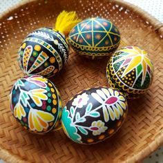 Set of 5 Traditional hand painted Ukrainian Easter Eggs, Ukrainian Pysanka, Easter Egg, Easter Gift, Easter Egg Designs, Ukrainian Easter Eggs, Egg Art, Spring Sign, Chicken Eggs, Easter Gift, Mask For Kids, Unique Gifts, Wax