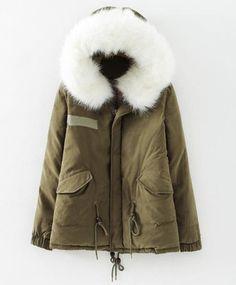 dresslily | hooded faux fur parka
