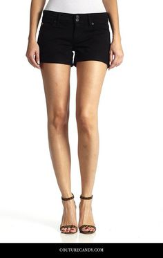 Hudson Jeans - Croxley Mid Thigh Short In Black | www.couturecandy.com