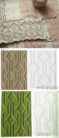 УЗОРЫ СПИЦАМИ - Knitting patterns, knitting designs, knitting for beginners. Lace Knitting Patterns, Knitting Stiches, Cable Knitting, Knitting Charts, Easy Knitting, Knitting Designs, Knitting Projects, Crochet Stitches, Stitch Patterns
