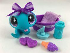 Littlest Pet Shop ULTRA RARE Blue Snake #2028 w/Pool & Accessories #Hasbro