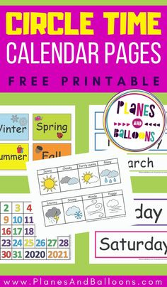 Free Preschool, Preschool Printables, Preschool Learning, In Kindergarten, Fun Learning, Kindergarten Circle Time, Preschool Boards, Toddler Learning, Toddler Calendar