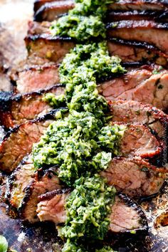 crazy juicy, tender ASIAN GRILLED STEAK WITH CILANTRO BASIL CHIMICHURRI is hands down best steak marinade I have ever tried and the chimichurri is SO flavorful!