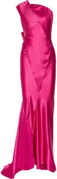 Donna Karan Strapless Duchesssatin Gown