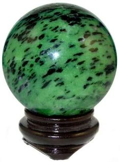 Green Zoisite Sphere - What? No Ruby!