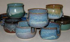 Sponge Holder in Plum Blue, Wheel-Thrown Pottery. $11.00, via Etsy.