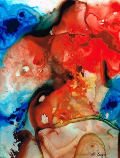 Abstract Art Painting Modern Contemporary by BuyArtSharonCummings, #abstractart #art $95.00