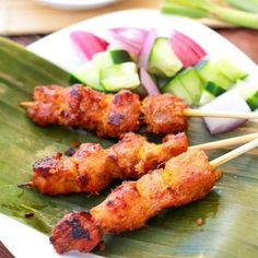 Try these delicious Asian chicken satay which are little skewers of marinated meat cooked over an open flame.