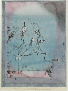 void-dance:  Painting byPaul Klee:Twittering Machine(1922)