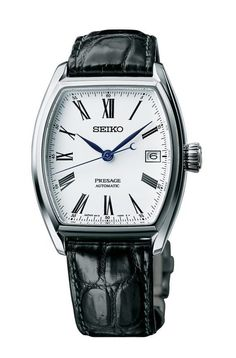 The new Seiko Presage Enamel watches with images, price, background, specs, & our expert analysis. Best Swiss Watches, Best Watches For Men, Luxury Watches For Men, Fossil Watches, Fine Watches, Cool Watches, Men's Watches, Dream Watches, Seiko Presage