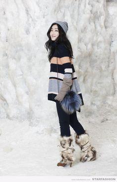 박진희, 아름다운 겨울 빙벽장 패션화보