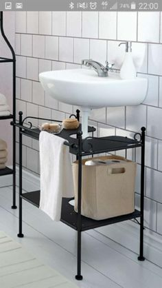 Ronnskar sink shelf this ronnskar shelf from ikea is - Mueble lavabo ikea ...
