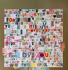 DIY I love you poster