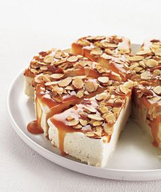 Caramel-Almond Ice Cream Torte: This gorgeous ice cream cake looks impressive, but it only requires 3 ingredients and is incredibly easy to make.