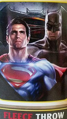 Superman v Batman Fleece Throw 40 x 50 @ niftywarehouse.com