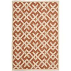 Poolside Terracotta/Bone Indoor/Outdoor Area Rug (4' x 5'7)   Overstock.com Shopping - Great Deals on Safavieh 3x5 - 4x6 Rugs