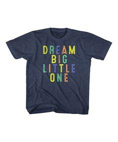 Heather Navy 'Dream Big Little One' Tee - Toddler & Girls