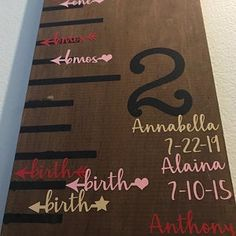 Height Marker for Growth Chart Ruler – Vinyl Decal Arrow in Script – Measuring Mark – diy kid room decor Wooden Height Chart, Kids Height Chart, Growth Chart Ruler, Growth Charts, Height Ruler, Growth Chart Wood, Baby Growth, Multiplication For Kids, Charts For Kids