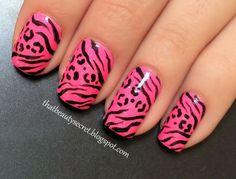 Zebra/leopard nails!
