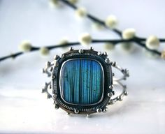 RESERVED  The Light Beneath  Labradorite Sterling by MercuryOrchid
