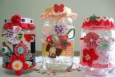 Artesanais & Cia: Potes de vidros decorados!!!
