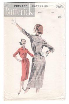 50's Butterick 7889 Pattern // Misses' Shirt by ElkHugsVintage, $10.00