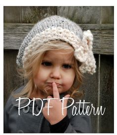 Knitting PATTERN-The Vivian Slouchy Toddler Child Adult