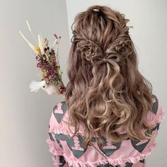 Daily Hairstyles, Kawaii Hairstyles, Curled Hairstyles, Girl Hairstyles, Wedding Hairstyles, Cool Haircuts For Girls, Braided Hairstyles Tutorials, Braids For Long Hair, Hair Inspo