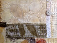 Close up of Eco collage by M. Stephens.