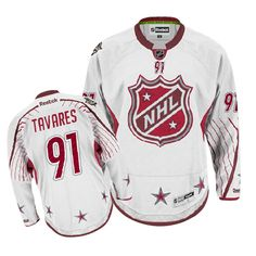 Authentic John Tavares White Men s NHL Jersey   91 New York Islanders  Reebok 2012 All 0bc326320