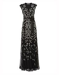 Gina Bacconi Mock Wrap Dress