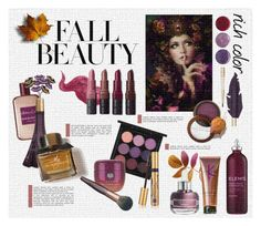 """""""Fall Beauty- Rich Color"""" by gilleyqwyn ❤ liked on Polyvore featuring beauty, Bobbi Brown Cosmetics, Elemis, Sisley, MAC Cosmetics, Atelier Cologne, Tatcha, Deborah Lippmann, Givenchy and Burberry"""