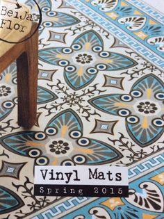 Beija Flor, Beija Carpet.  Salon Maison et Objet janvier 2015.  Tapis en vinyle façon carreaux de ciment, avec des super motifs.