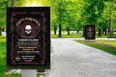 HALLOWEEN 2017 – Outdoor poster for Halloween 2017 presented on billboards in the park. #graphicdesign #advertising #marketing #billboards #poster #largeposter #banner #Halloween #HalloweenParty