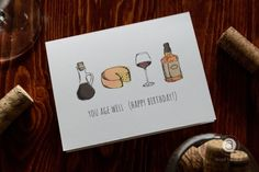 Buy 'You Age Well (Happy Birthday!) Card' by abigailhausman as a Art Board Print or Greeting Card