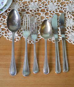 Vintage cutlery EPNS A1 six pieces