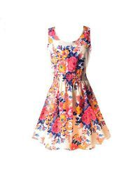 19 Colors 2017 New Summer Women Dress Casual Sleeveless Chiffon Stripe Floral Print Dress Vestidos Femininos Beach Dresses Short Beach Dresses, Summer Dresses For Women, Mini Dresses, Dress Summer, Chiffon Dresses, Sleeveless Dresses, Skater Dresses, Summer Sundresses, Dress Beach
