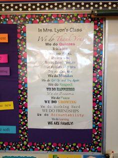 Mrs. Lyon's Blog - Teaching: The Art of Possibility: Classroom Set-up 2012-2013