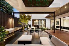 Indoor outdoor house design with alfresco terrace living area. Homesandlifestylemedia.com #interior #design #architecture